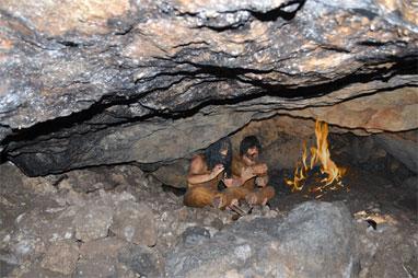 Fuego en la cueva